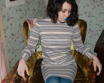 SALE Vintage 60's Mod Stripe Dress