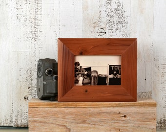 "4x6 Picture Frame in Reclaimed Redwood Easy Street Style with Natural Finish - IN STOCK - Same Day Shipping - Rustic 4 x 6"" Photo Frame"