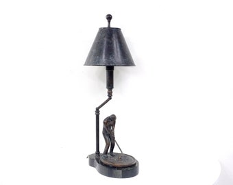 Maitland Smith Bronze U0026 Marble Golf Lamp With Shade Luxe Decor ~ The  Decades Dance