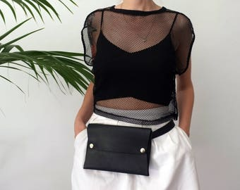 Leather belt bag, leather fanny pack, leather hip bag, travel pouch, leather festival fanny pack, travel hip bag, fanny pack, Minimalist
