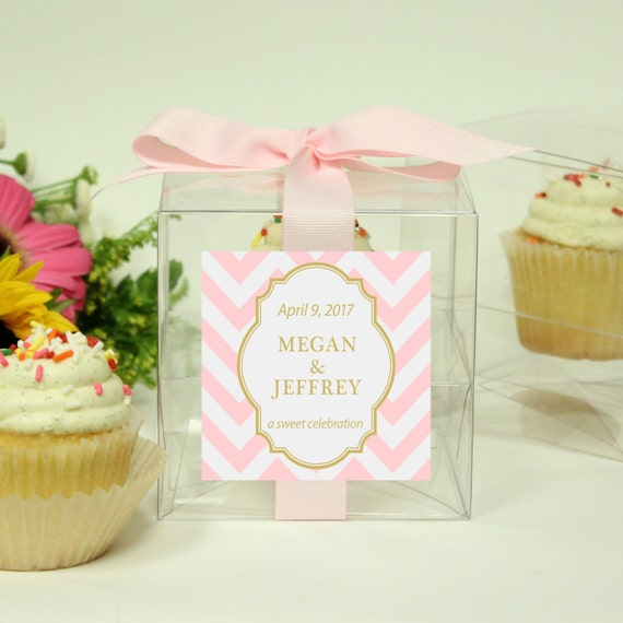 8 wedding favor cupcake boxes chevron design any color. Black Bedroom Furniture Sets. Home Design Ideas