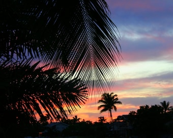 Tropical Sunset, photographic print