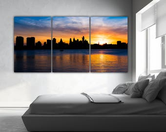 Philadelphia, Philadelphia skyline, Philadelphia Canvas, Philadelphia wall, Philadelphia pa art, Philadelphia Decor, Skyline Philadelphia