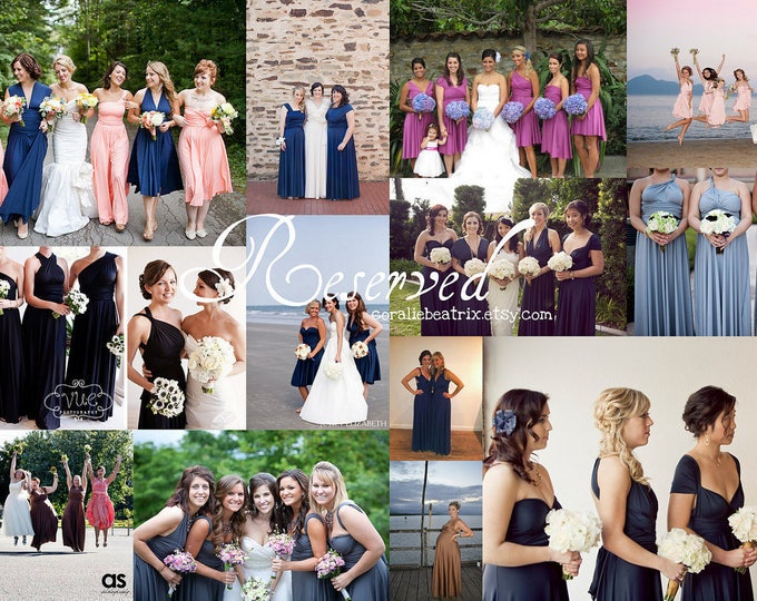 Reserved listing for Dawn-4 Long Swan Lake Heather Dresses -RUSH ORDER
