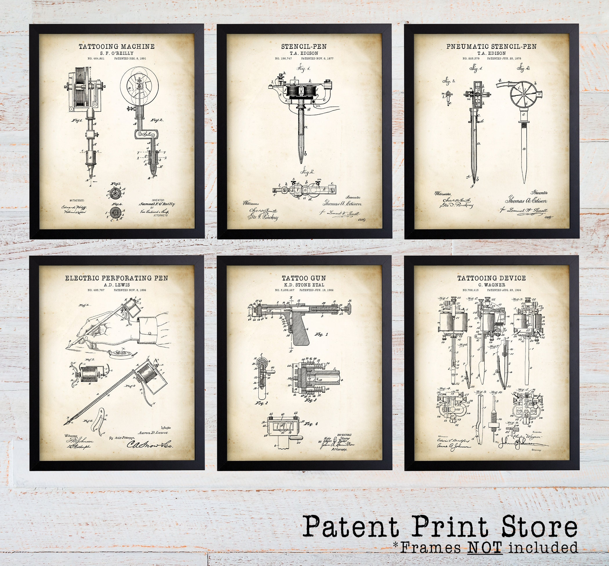 Tattoo patent print tattoo art tattoo print tattoo for Gifts for tattoo artist