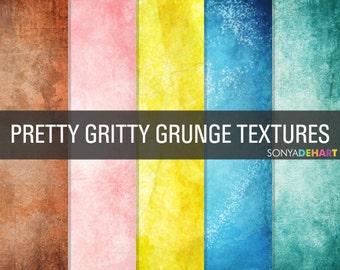 80% OFF SALE Grunge Digital Paper Grunge Textures Grunge Paper Pack Pretty Gritty