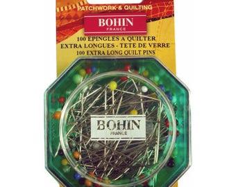 Quilting pins / glass head pins / Epingles extra-long pins / 26597