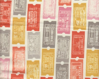Moda Fabrics 2wenty Thr3e Tickets on Cream - Half Yard