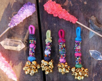 Mini Bell Swag Multi-Colored Camel Swag Charm, Tassel, Pendant, Jewelry Making Supply, Purse Charm, Boho Keychain, Gift For Her, 1 Piece