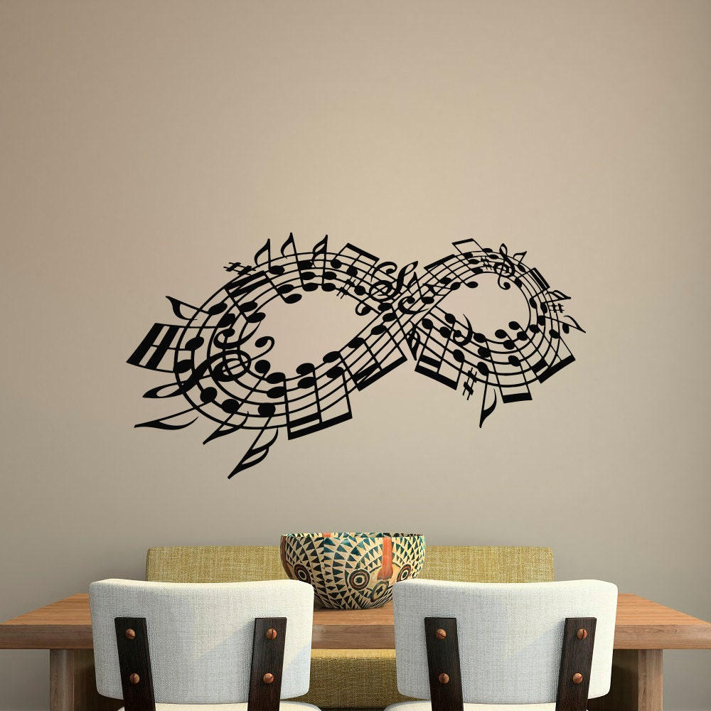 Wall Decal Music Note Decals Music Stuff Infinity Symbol Wall