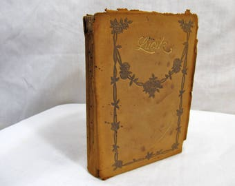 Lucile, Owen Meredith, Published by Thomas Y. Crowell & Co. circa late 1800's no date Hardcover Antique Leather Book Poetry Poems