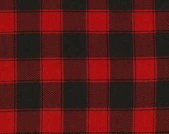 Christmas Cabin from Timeless Treasures - Red + Black Plaid Blender