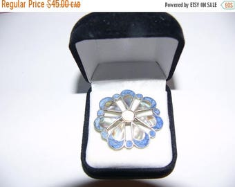 ON SALE Vintage Sterling Silver Brooch