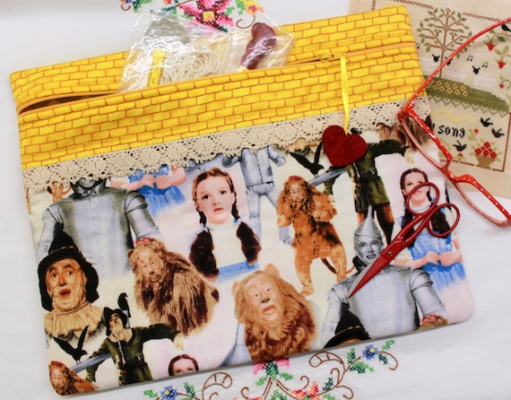 Wizard of Oz Cross Stitch, Sewing, Embroidery Project Bag