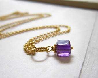 Purple Amethyst Gemstone Jewelry - Sterling Silver Charms - 14k Gold Charms - Healing Crystals and Stones - Wire Wrapped Jewelry Handmade -