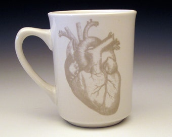 anatomical heart classic MUG in GHOSTIE GREY