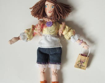 Zoe The Shopping Girl (Handmade and one of a kind ragdoll)