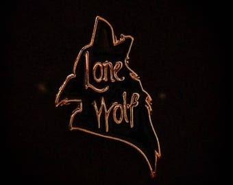 Lone Wolf Enamel Pin