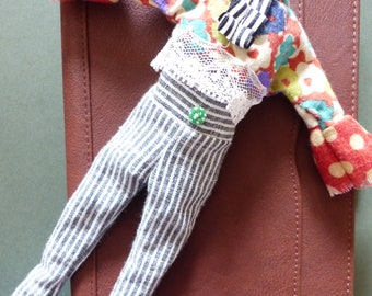 Blythe Trouser Outfit - Stripes And Red Dots - Trousers And Blouse