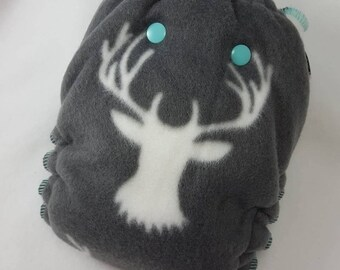 CLOTH DIAPER Nighty Night Fitted *Made to Order* Stag,Deer,Deer Head,Hunter,Heavy,Nighttime Diaper,Night Diaper,Night Cloth Diaper