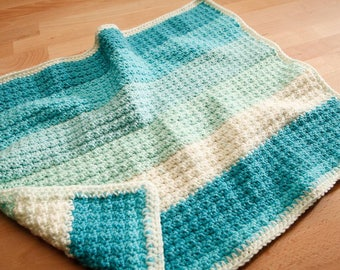 Baby car seat sized blanket. Hand crocheted blanket
