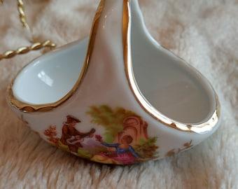 VINTAGE miniature basket Torremolinos, Mid century Torremolinos Miniature Basket, vintage basket small size