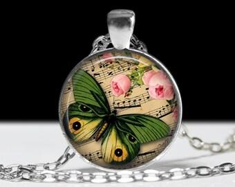 Butterfly Penant Butterfly Jewelry Wearabel Art Butterfly Necklace