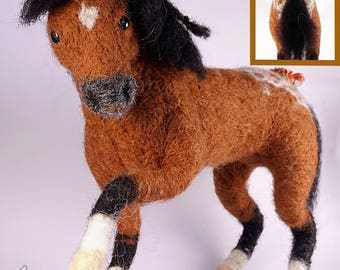 Appaloosa Horse - needle felted