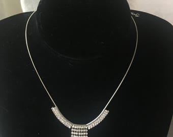 Diamante necklace and earrings  [SKU116]