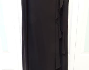Long Black Evening Skirt, PAPELL BOUTIQUE,Woman's size 2x, fully lined 100%polyester, acetate, circa 1990s