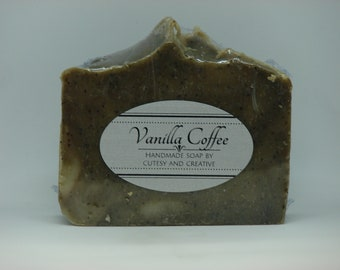 Natural Vanilla Coffee handmade soap, cold press bath and body soap gift