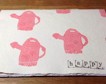 Happy - landscape watering cans notebook/sketchbook
