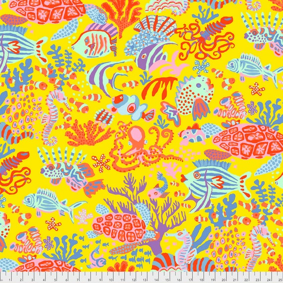 SCUBA Yellow Brandon Mably PWBM064.YELLO  Sold in 1/2 yard increments