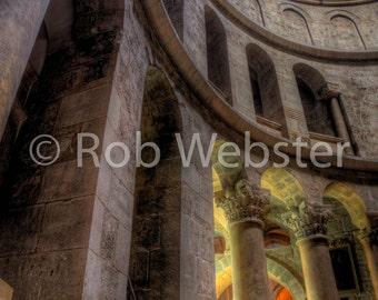 Church of the Holy Sepulchre 13, Jerusalem, 8x10 Fine Art HDR Israel Photo