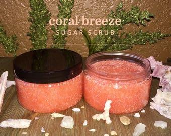 Homemade Sugar Scrub - Coral Breeze