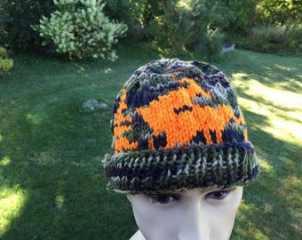Deer hat - beanie - Knitting Pattern - Fornicating Deer Hat- Novelty Hat  Pattern  - PDF Hunting Hat  Pattern  Only