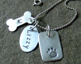 I love my Pets Charm Necklace in sterling silver