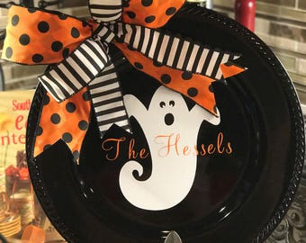 Halloween Ghost Charger Plate