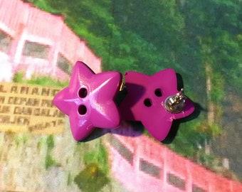 big star earrings (purple)