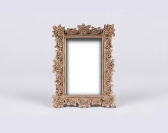 Antique Copper Gold Luster Frame, Natural Color Patina, Natural Tint Paint, Neutral Color Photo Frame, Golden Gloss Frame, Gold Shine Frame