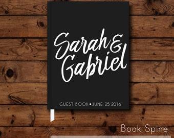 Simple Guest Book - Modern Custom Guest Book -  Bridal Shower Gift - Hardcover Guest Book - Wedding Shower - Bridal Journal - Wedding Gift
