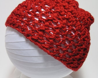 Red Hat, Red Crochet Hat, Red Beanie, Red Crochet Beanie, Fall Hat, Winter Hat, Gift for Her