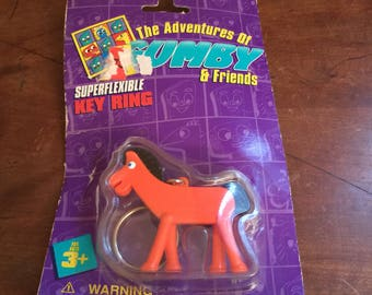 Trendmasters Vintage Pokey Keychain/Vintage Gumby and Friends Keychain
