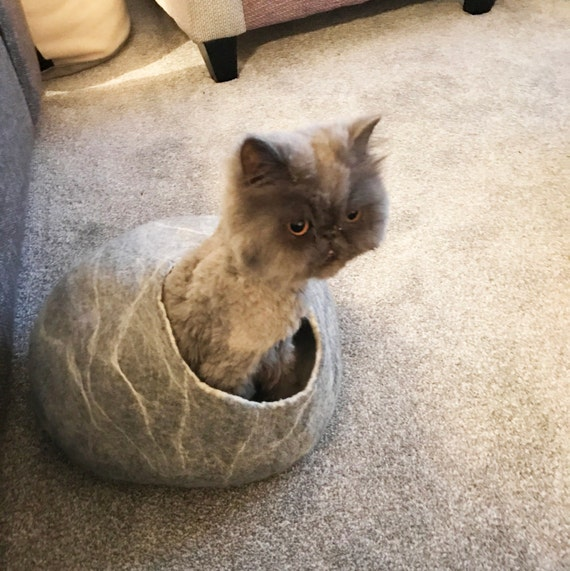 Exceptional ... Cat Bed / Cave Cocoon / Cat House / Grey White Marble / Ideal Cat Lover