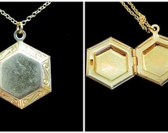 The Hexagon Locket Necklace