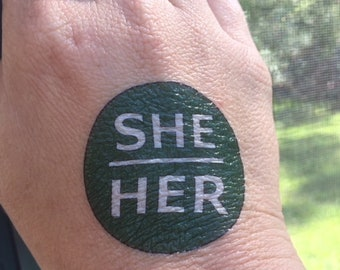 She/Her Pronouns Temporary Tattoo