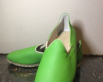Green Handmade Leather Shoes