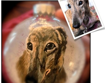 CUSTOM hand painted Pet Portrait Ornament