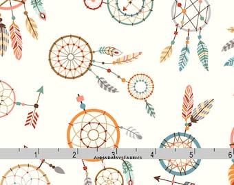 Dreamcatcher Fabric, Dream Catcher Quilt Fabric, Studio E Camp-A-Long Critters 4010 44, Southwestern Fabric, Native American, Cotton Yardage