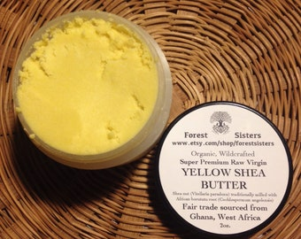 Raw Virgin Yellow Shea Butter (Fair Trade, Traditionally Handcrafted by Women Artisans, Raw Shea Butter milled with Borututu Root)